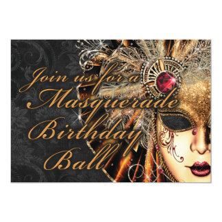 Karneval-Maskerade-Geburtstags-Party Einladung