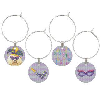 Karneval-Miniaturpudel Glasmarker