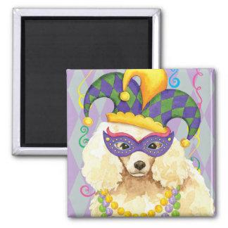 Karneval-Miniaturpudel Quadratischer Magnet