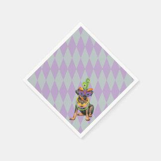 Karneval-Minuten-Button Papierservietten
