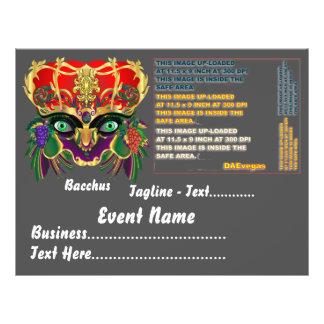 Karneval-Mythologiebacchus-Ansicht deutet bitte an 21,6 X 27,9 Cm Flyer