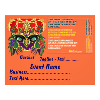 Karneval-Mythologiebacchus-Ansicht deutet bitte an Custom Flyer