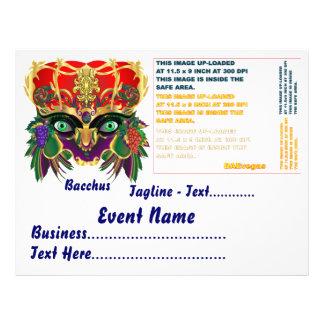 Karneval-Mythologiebacchus-Ansicht deutet bitte an Flyerdesign