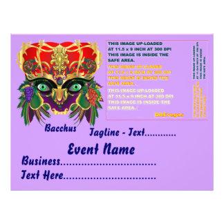 Karneval-Mythologiebacchus-Ansicht deutet bitte an Bedruckte Flyer