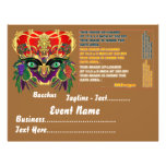 Karneval-Mythologiebacchus-Ansicht deutet bitte an Individuelle Flyer