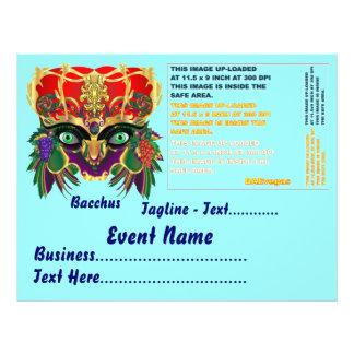 Karneval-Mythologiebacchus-Ansicht deutet bitte an Vollfarbige Flyer