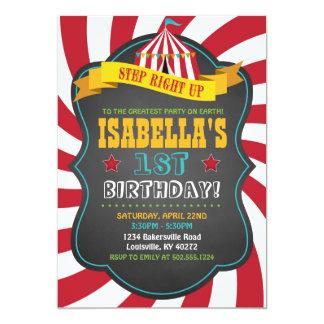 Karneval oder Zirkus-Geburtstags-Party Einladung