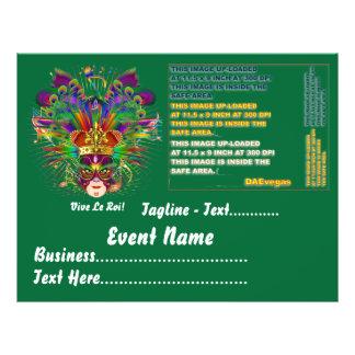 Karneval-Party-Thema sehen bitte Anmerkungen an 21,6 X 27,9 Cm Flyer