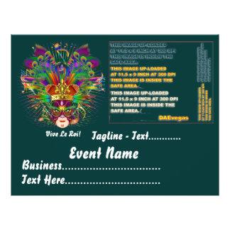 Karneval-Party-Thema sehen bitte Anmerkungen an Flyerdesign