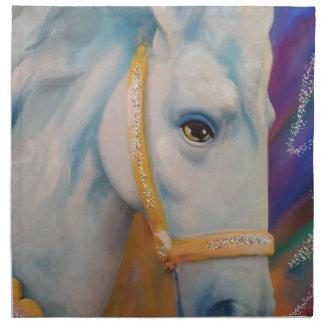 Karneval-Pferd Stoff Serviette