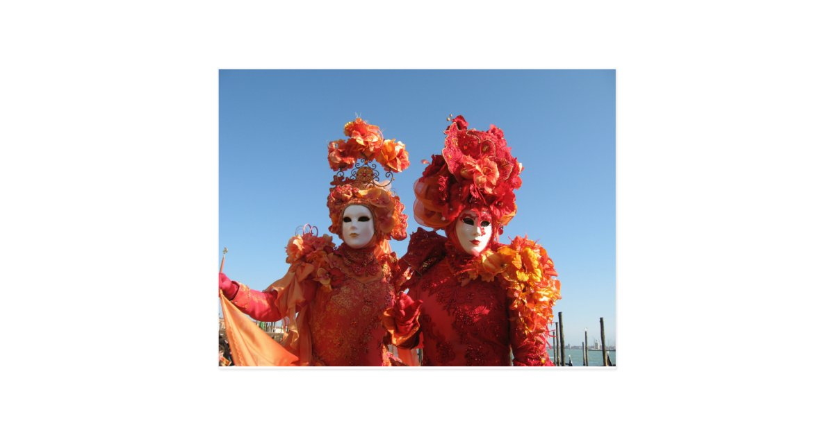 Karneval von Venedig Postkarte   Zazzle.de