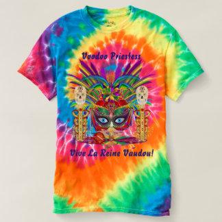 Karneval-Voodoo-Priesterinansichtanmerkungen unten T Shirt