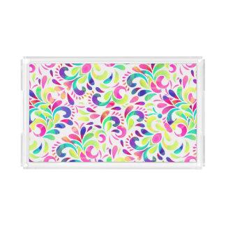 Karnevals-Farbexplosion der hellen Extravaganz Acryl Tablett