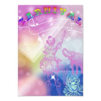 Karnevals-Geburtstags-Einladung 12,7 X 17,8 Cm Einladungskarte