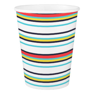 Karnevals-horizontaler Streifen-Papierschale Pappbecher