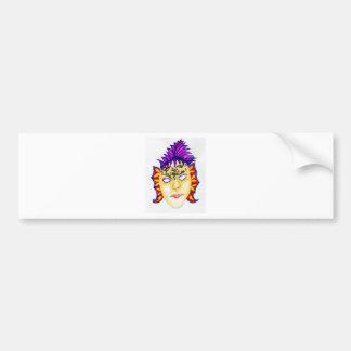 Karnevals-Masken-Aquarell 2 Autoaufkleber