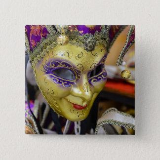 Karnevals-Masken in Venedig Italien Quadratischer Button 5,1 Cm
