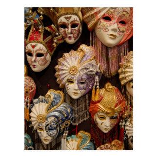 Karnevals-Masken in Venedig Postkarte