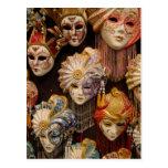 Karnevals-Masken in Venedig Postkarten