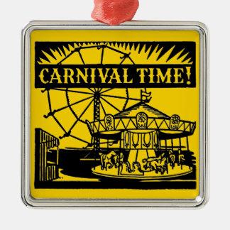 Karnevals-Zeit Silbernes Ornament