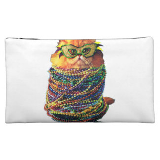 Karnevalskatze - bunte Katze - lustige Katzen Cosmetic Bag