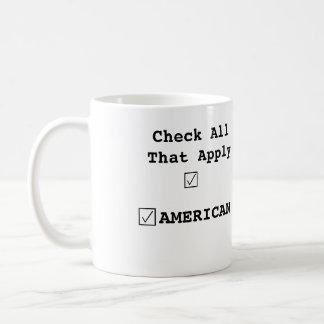 Karo der einzige Kasten, der ist. Amerikanisch. 11 Kaffeetasse
