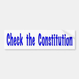 Karo die Konstitution Autoaufkleber