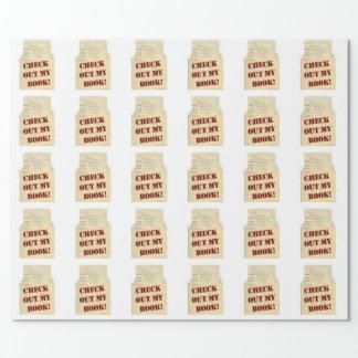 Karo heraus mein Buch-Autorn-Logo Geschenkpapier