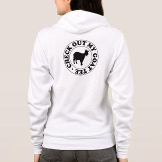 Karo heraus mein Ziegen-T-Stück Hoodie
