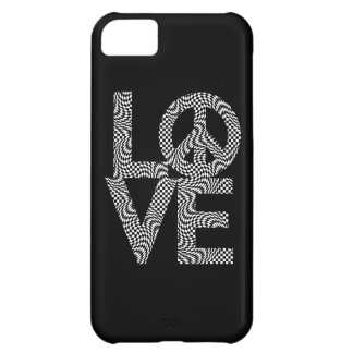 Karo-Verzerrung LOVE=Peace iPhone 5C Hülle