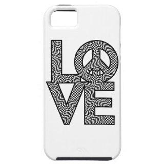 Karo-Verzerrung LOVE=Peace Tough iPhone 5 Hülle