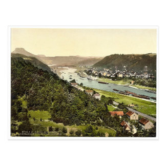 Karola Höhen, schlechtes Schandau, Sachsen, Postkarte