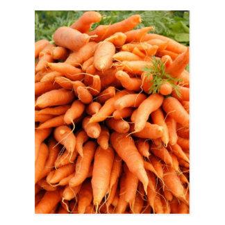 Karotten am Bauersmarkt Postkarte