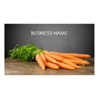 Karotten-Bio Bauernhof-Geschäfts-Karten-Schablone Visitenkarten Vorlage