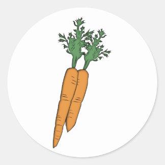 Karotten carrots runder aufkleber