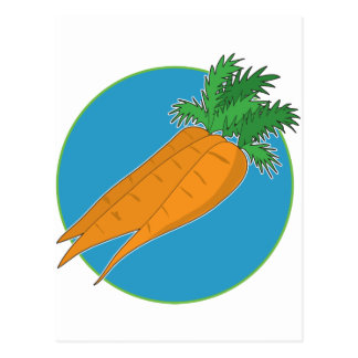 Karotten-Grafik Postkarte