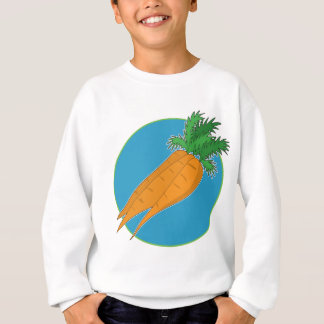 Karotten-Grafik Sweatshirt