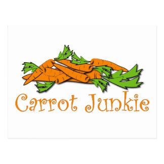 Karotten-Junkie Postkarte