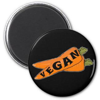 Karotten-Kühlschrankmagnet - niedliche vegane