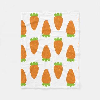 Karotten-Muster-Decke Fleecedecke
