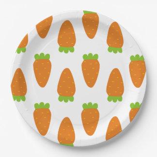 Karotten-Muster-Teller Pappteller