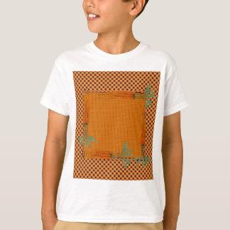 Karotten-Rahmen, Gingham-Muster, Punkte T-Shirt