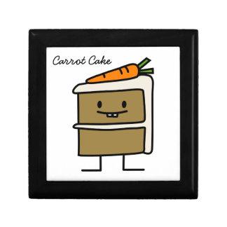 Karottenkuchenscheibe-Häschenzähne, die Nachtisch Geschenkbox