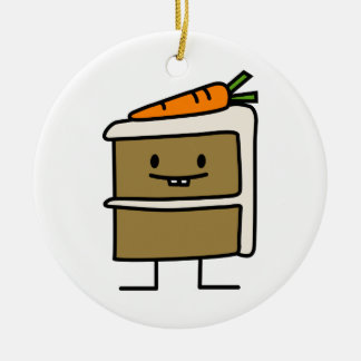 Karottenkuchenscheibe-Häschenzähne, die Nachtisch Keramik Ornament