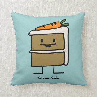 Karottenkuchenscheibe-Häschenzähne, die Nachtisch Kissen