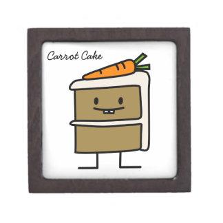 Karottenkuchenscheibe-Häschenzähne, die Nachtisch Schmuckkiste