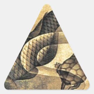 Karpfen durch Katsushika Hokusai Dreiecks-Aufkleber