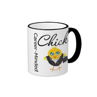 Karriere-Gesinntes Küken Kaffeetassen