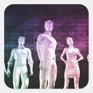 Karriereentwicklung und marktfähige Fähigkeiten Quadratischer Aufkleber