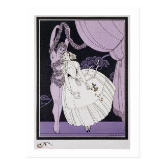 Karsavina, 1914 (pochoir Druck) 2 Postkarte